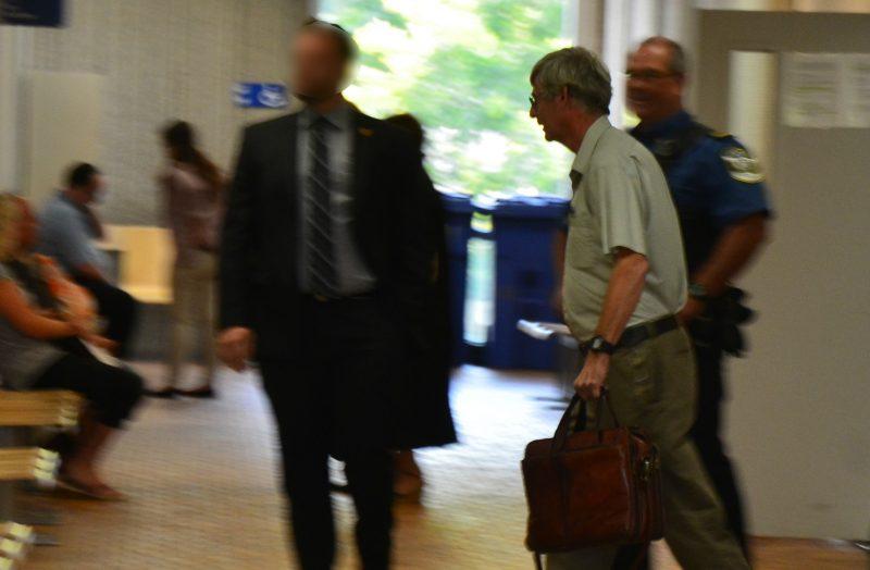 L'ancien prêtre Daniel Moreau a subi son enquête préliminaire le 24 août, au palais de justice de Sorel-Tracy. | Tc Média - Sarah-Eve Charland