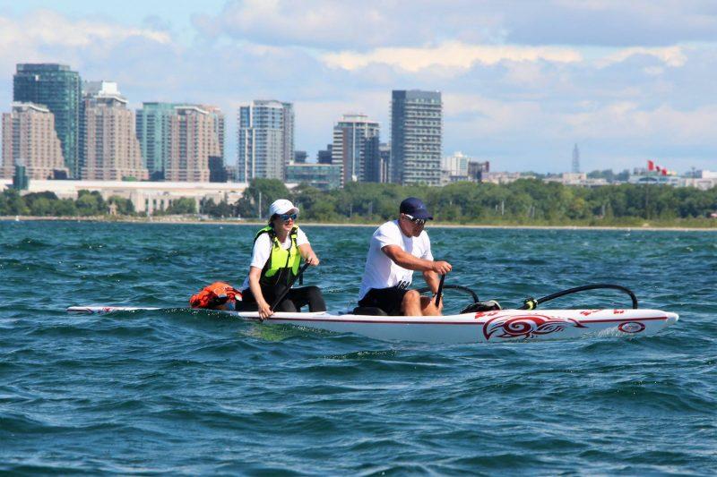 Mario Blackburn et Nicole Boucher, lors d'une récente course cet été. | Photo: gracieuseté