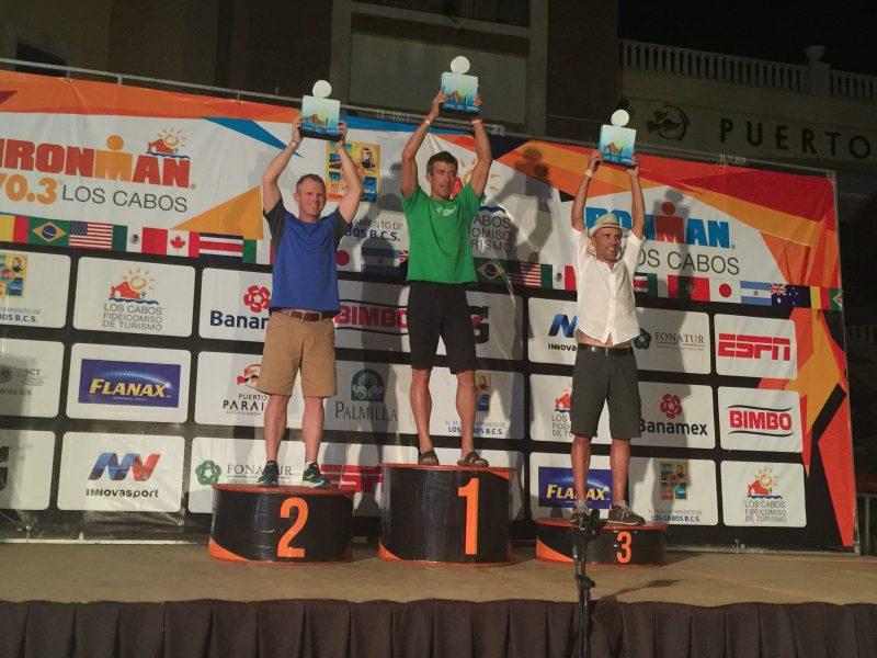 M. Neirynck est monté sur la troisième marche du podium chez les 45-49 ans. | Photo: gracieuseté – Louis Lavergne