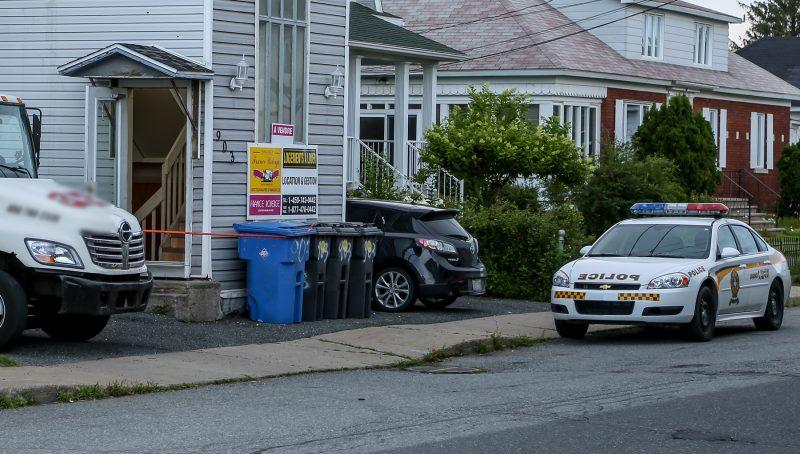 Deux hommes ont été blessés à l'arme blanche cette nuit sur la rue Désiré à Saint-Joseph-de-Sorel. | Photo: TC Média - Pascal Cournoyer
