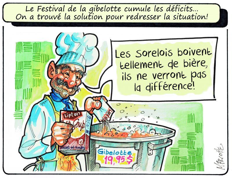Gilles Bill Marcotte croit avoir trouvé la solution pour sauver des coûts au Festival de la gibelotte! | Gilles Bill Marcotte