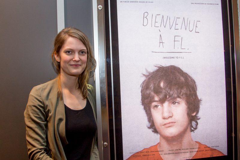Geneviève Dulude-De Celles était présente le soir de la première soreloise au Cinéma St-Laurent..   TC Média - Pacal Cournoyer