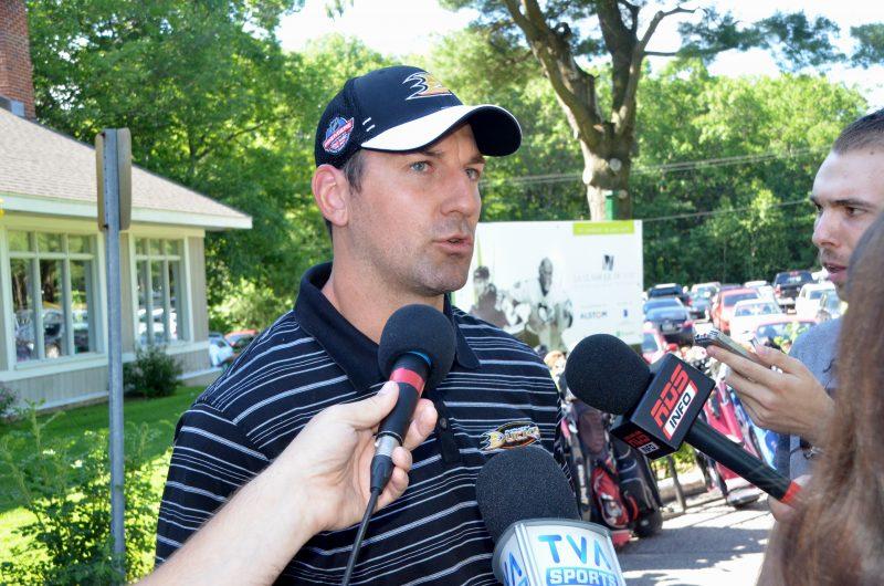 François Beauchemin a répondu aux questions des médias le 26 juin.   Photo: TC Média - Jean-Philippe Morin