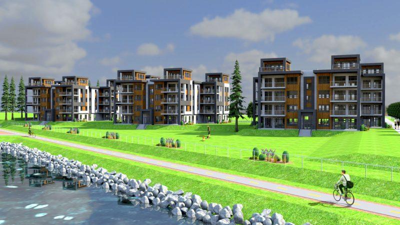 L'entreprise Développement Bibeau et les entrepreneurs Robert Faithfull et Sylvain Sinclair sont à l'origine du projet des 48 condos Regard sur le fleuve. | Gracieuseté