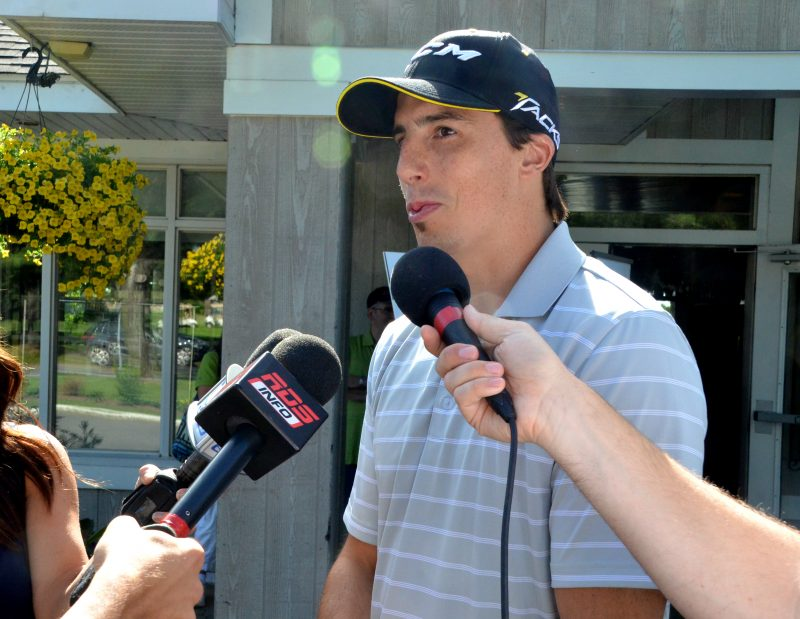 Marc-André Fleury a répondu aux questions des médias le 26 juin.   Photo: TC Média - Jean-Philippe Morin