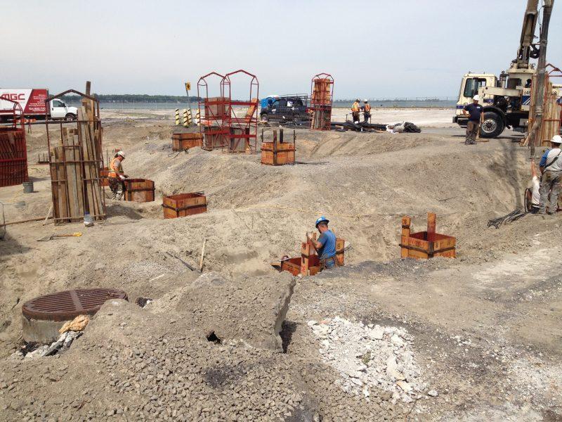 Les travaux sur le quai no 2 seront terminés en décembre prochain. | Photo: Gracieuseté – Ville de Sorel-Tracy