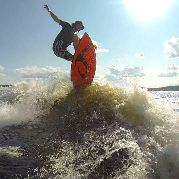 Daniel Laprade a terminé troisième au Championnat canadien de wakesurf à Toronto du 19 au 21 août | Gracieuseté
