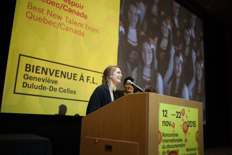 Geneviève Dulude-De Celles à la réception de son prix Meilleur espoir Canada/Québec. | Photo: Gracieuseté Kinga