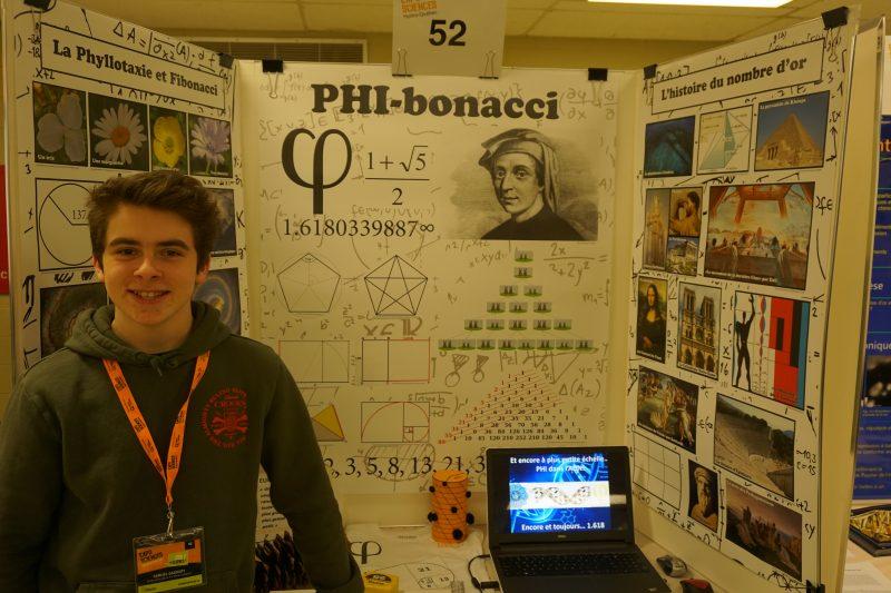 Samuel Gadoury a présenté le projet « PHI-bonacci ». | Gracieuseté/Expo-sciences