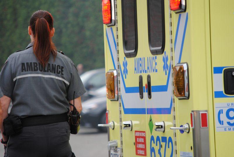 Une dame a subi un accident à Saint-David le 23 avril. | TC Média - Stéphanie Mac Farlane