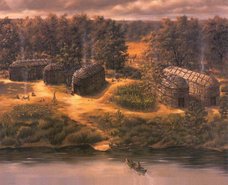 Dès la 3e année, les enfants pourront découvrir que les premiers habitants de la région habitaient des maisons longues, comme l'a révélé l'archéologue sorelois Claude Chapdelaine. | Photo: Tirée de l'exposition du Biophare