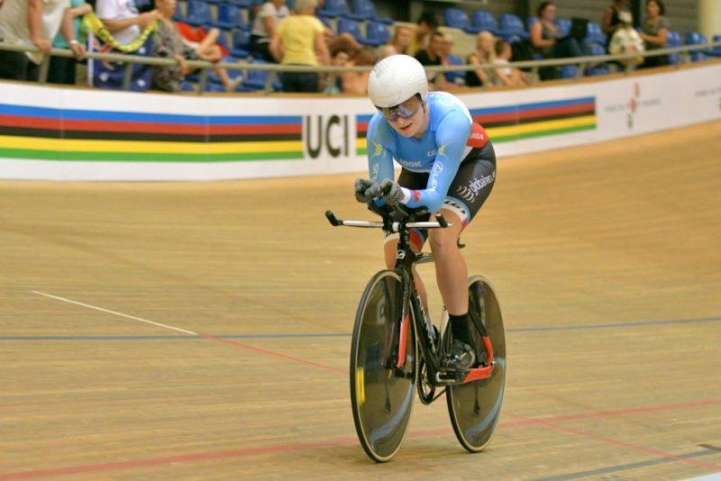Laurie Jussaume a participé à la poursuite individuelle aux Championnats du monde du 20 au 24 juillet dernier. | Gracieuseté - Michel Guillemette 2016