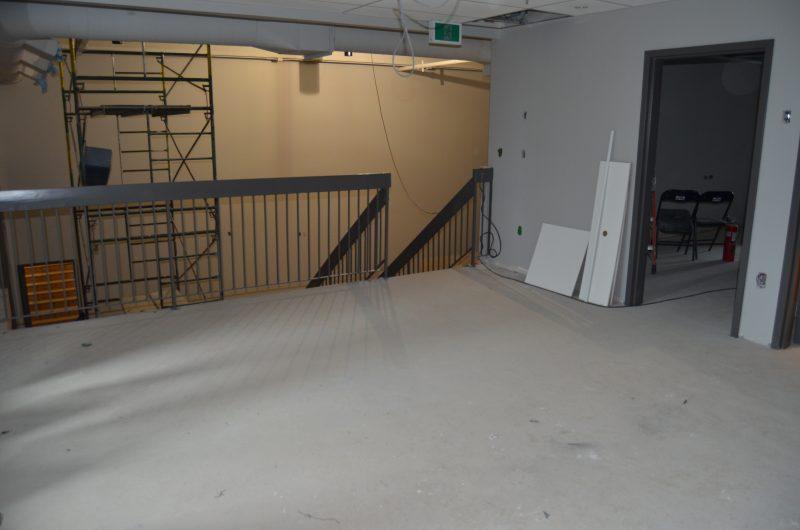 À la sortie des loges, une mezzanine sera aménagée en salon où les artistes et leur équipe pourront se reposer. | TC Média - Stéphane Martin