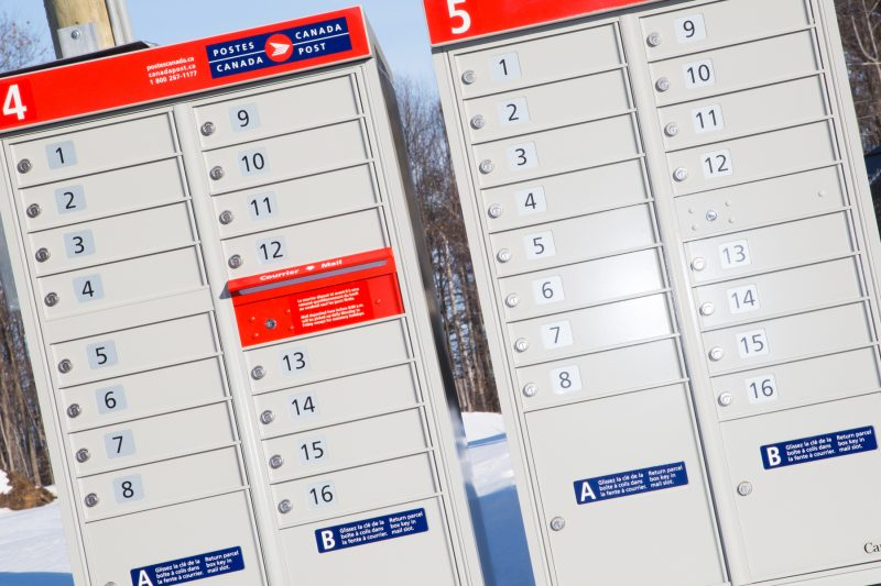 Le projet de boîtes postales communautaires de Postes Canada a été mis sur la glace, au grand soulagement des employés de la poste de la région. | Photo: TC Média – Pascal Cournoyer