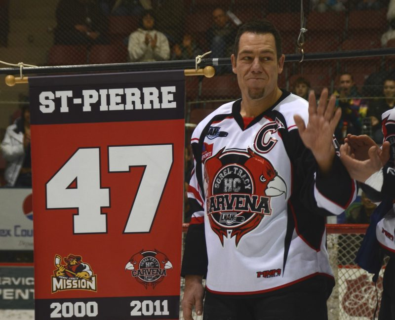 David St-Pierre, dont le chandail a été retiré en 2012, est intronisé cette année. | Photo: TC Média – archives/Jean-Philippe Morin