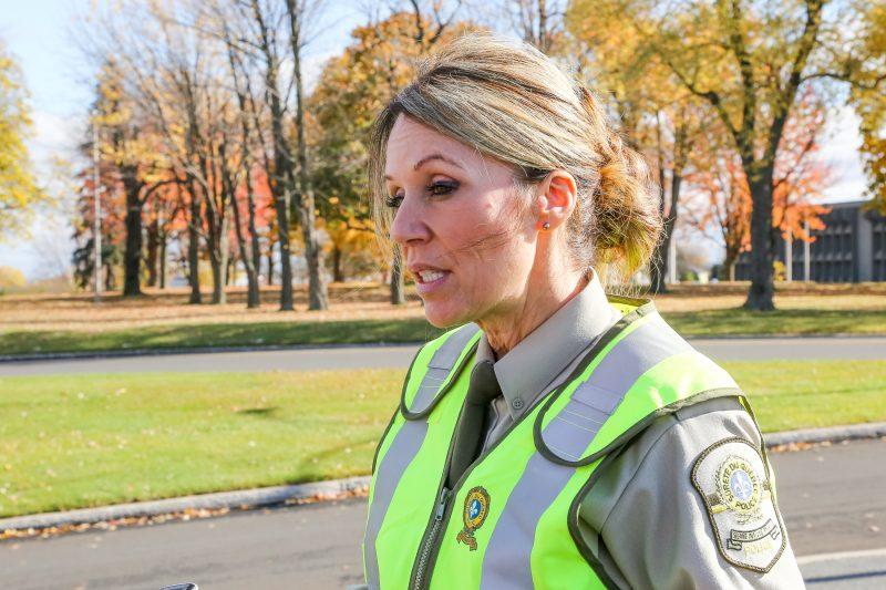 La porte-parole de la Sûreté du Québec, Ingrid Asselin | Photos par Pascal Cournoyer