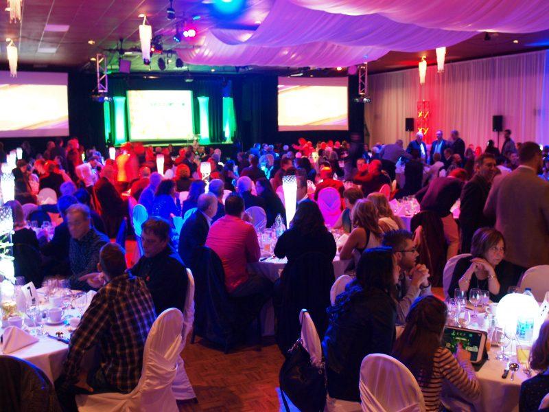 Une partie des quelque 300 convives qui assistaient au Gala de l'Excellence agricole, à la salle Jani-Ber, le 26 novembre. | Photo TC Média - Louise Grégoire-Racicot