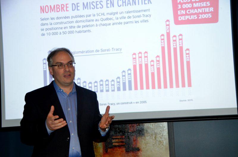 Laurent Cournoyer, instigateur de la campagne onconstruit.ca. | TC Média - Jean-Philippe Morin