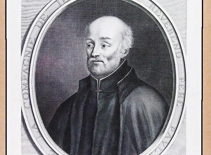 Paul Le Jeune, né en 1591 et mort en 1664 à Paris, fut le premier rédacteur des Relations des Jésuites, dont la lecture en France suscita de nombreux départs pour la Nouvelle-France. Cette gravure en creux, aux dimensions de 1,5 x 26,5 cm, a été imprimée en 1665 par René Lochon. | Photo: Germain Martin