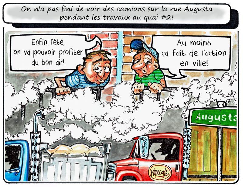 Les camions envahissent le centre-ville de Sorel-Tracy en raison des travaux au quai #2... De quoi incommoder les voisins! | Gilles Bill Marcotte