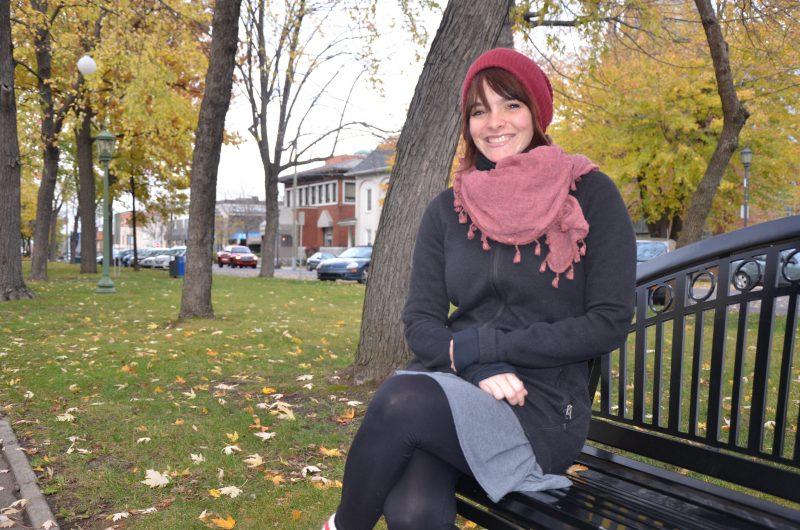 Émilie Charbonneau est candidate pour Option nationale dans le comté d'Arthabaska, dans le Centre-du-Québec. | TC Média - Sarah-Eve Charland