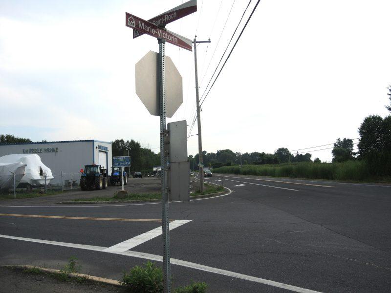Le ministère envisage d'améliorer la visibilité à l'intersection de la route 132 et de la montée Saint-Roch à Contrecœur. | TC Média - Sarah-Eve Charland