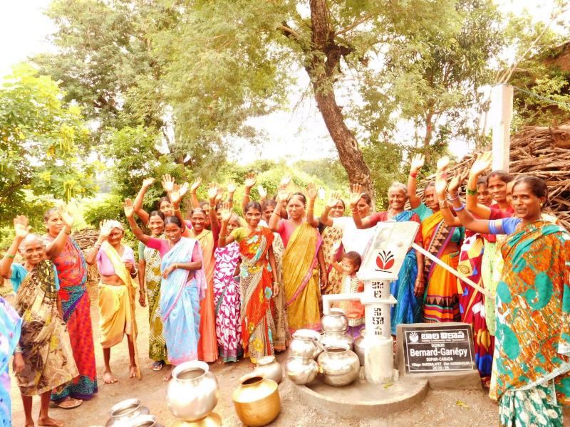 L'organisme Sopar a construit ce puits en Inde.   Gracieuseté
