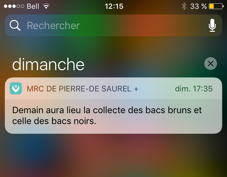 Les alertes sur téléphone sont en fonction pour l'application de la MRC de Pierre-De Saurel. | Gracieuseté