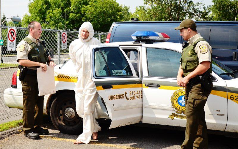 Denis Métivier, 37 ans, a comparu ce matin au palais de justice de Sorel-Tracy.   Photo:TC Média – Julie Lambert