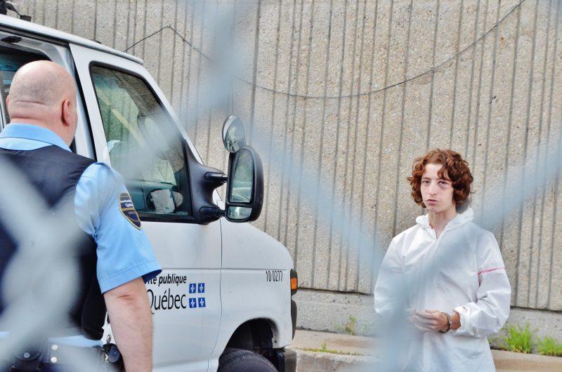 Jordan Guérin, 19 ans, a comparu hier au palais de justice de Sorel-Tracy.   Photo: TC Média - Sarah-Eve Charland