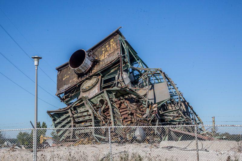La structure de la centrale thermique est complètement disparue le 25 septembre dernier. Seulement les tas de matériaux sur le terrain témoignent de son existence. | Photo: TC Média - Pascal Cournoyer