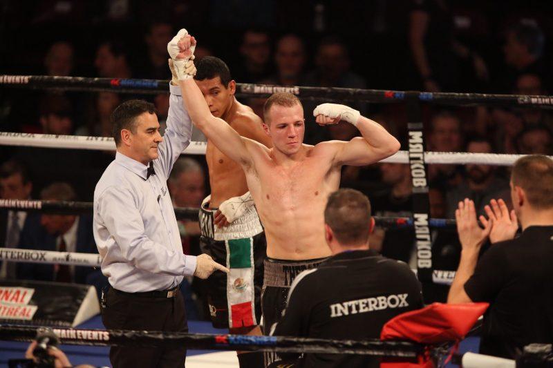 David Thé.roux a gagné par TKO au 3e round, le 30 janvier, au Centre Bell. | Photo: TC Média - Pascal Cournoyer