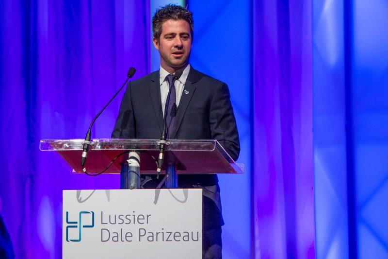Luc-André Lussier, de Lussier Dale Parizeau, commanditaire principal du Gala pour une 32e année. | Pascal Cournoyer