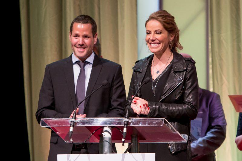 Alexandre Martel et Chantal Forcier ont gagné dans la catégorie Entreprise de service volet 11 employés et plus pour Les Jardins de Ramezay - phase 3. | Pascal Cournoyer