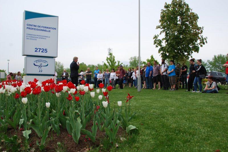 La cérémonie de floraison du jardin de tulipes a eu lieu le 24 mai. | Gracieuseté