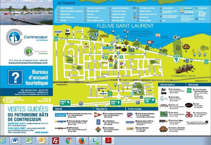 La carte touristique de la Ville de Contrecœur a été actualisée. | Photo: gracieuseté