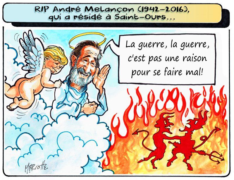 André Melançon a marqué Saint-Ours à sa façon... et continuera de marquer le paradis! | Gilles Bill Marcotte