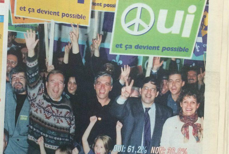 La « une » du 31 octobre 1995 du Journal Les 2 Rives.   Tc Média - Jean-Philippe Morin