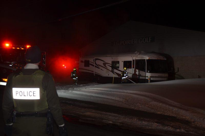 La Sureté du Québec et le Service de sécurité incendie de Sorel-Tracy ont été dépêchés sur les lieux. | TC Média - Jonathan Tremblay