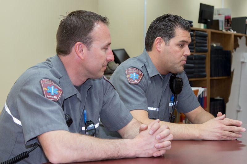 Les ambulanciers de Sorel-Tracy ont participé à la table ronde. | TC Média - Pascal Cournoyer