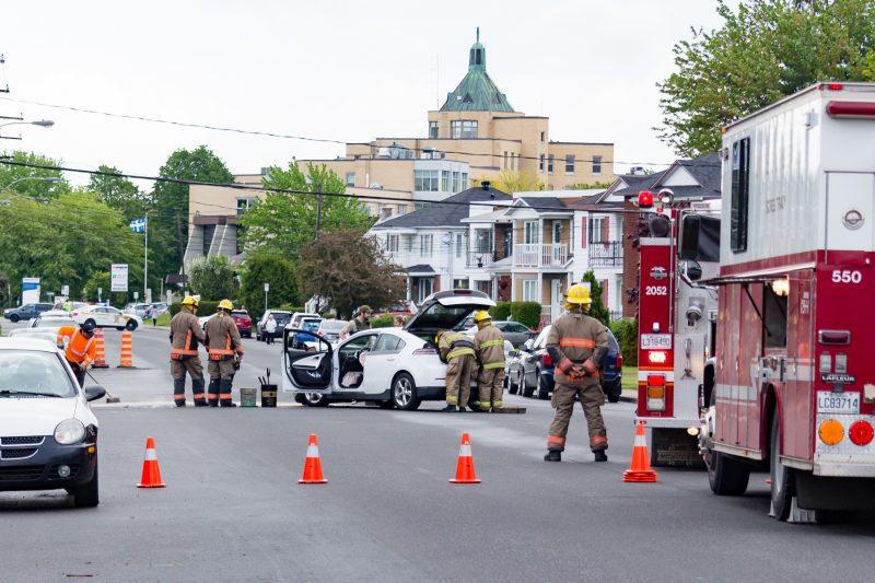 L'accident est survenu le 31 mai vers 8h45. | TC Média - Pascal Gagnon