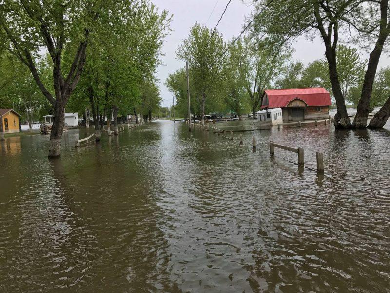 Une parcelle de Yamaska demeure inondée | Tirée de Facebook