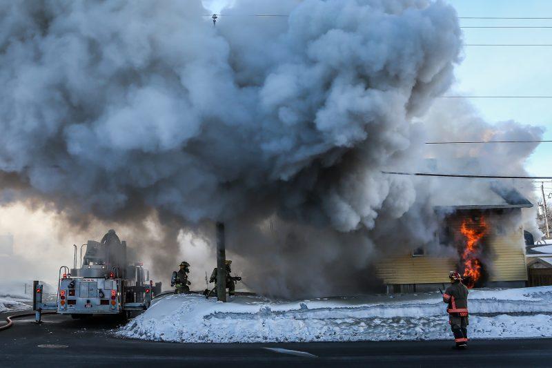 Un incendie rase une maison à Sorel-Tracy