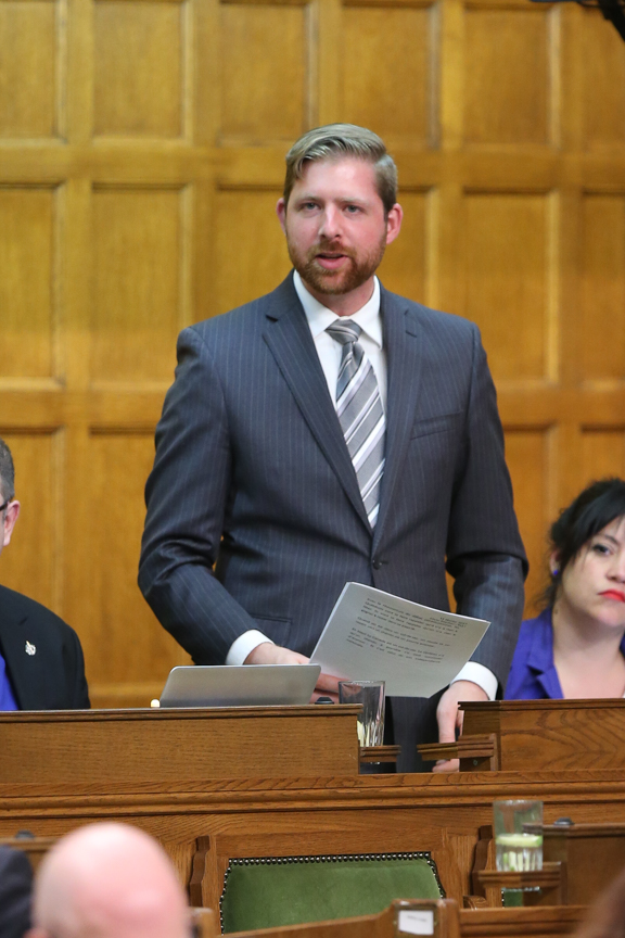 BT_02654 01 June 2017  Question Period   Xavier Barsalou-Duval   Ottawa, ONTARIO, on 01 June, 2017.   Credit: Bernard Thibodeau, House of Commons Photo Services  © HOC-CDC, 2017