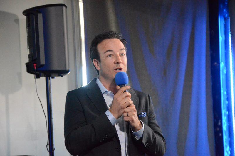 Le promoteur Luc Poirier a expliqué le projet et sa genèse au public. (Photo: Jean-Philippe Morin)