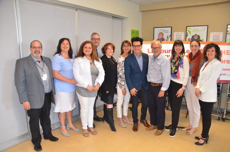 L'objectif de 300 000$ a été atteint pour la campagne 2016-2018 de pédiatrie. Sur la photo, quelques membres ayant participé à cette campagne. (Photo: Jean-Philippe Morin)