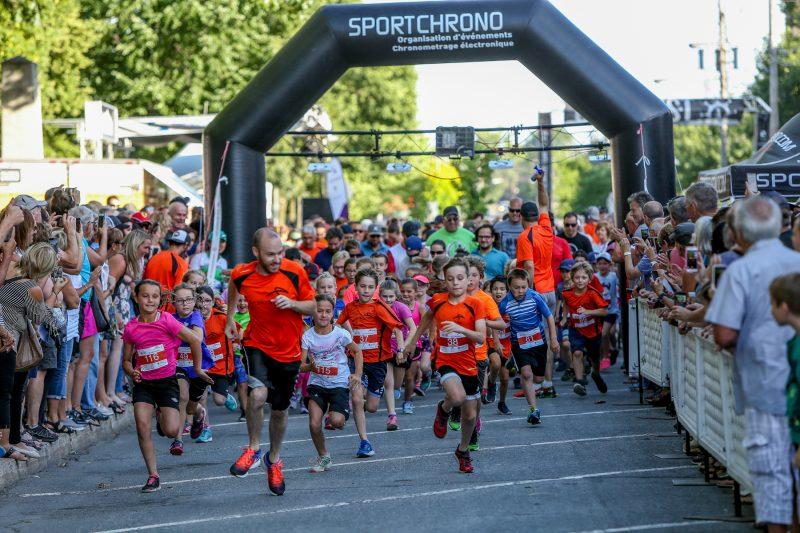 La course de 1 km des enfants a été un succès. (Photo: Pascal Cournoyer)