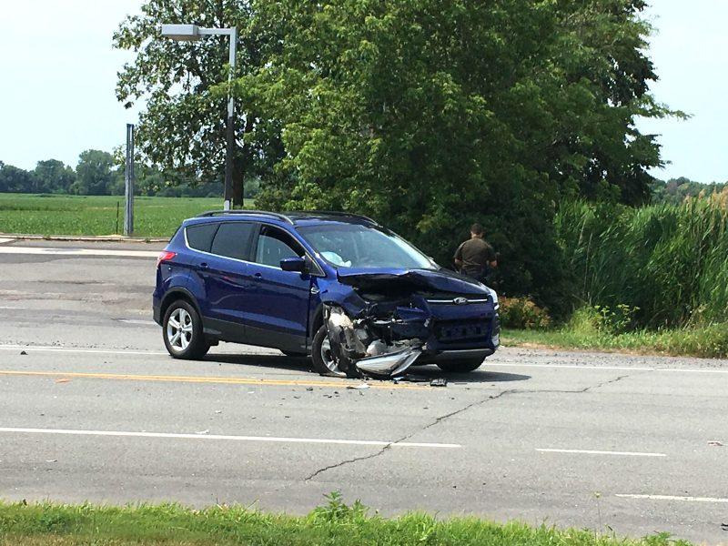 Deux véhicules ont été impliqués dans la collision. (Photo: Julie Letendre)