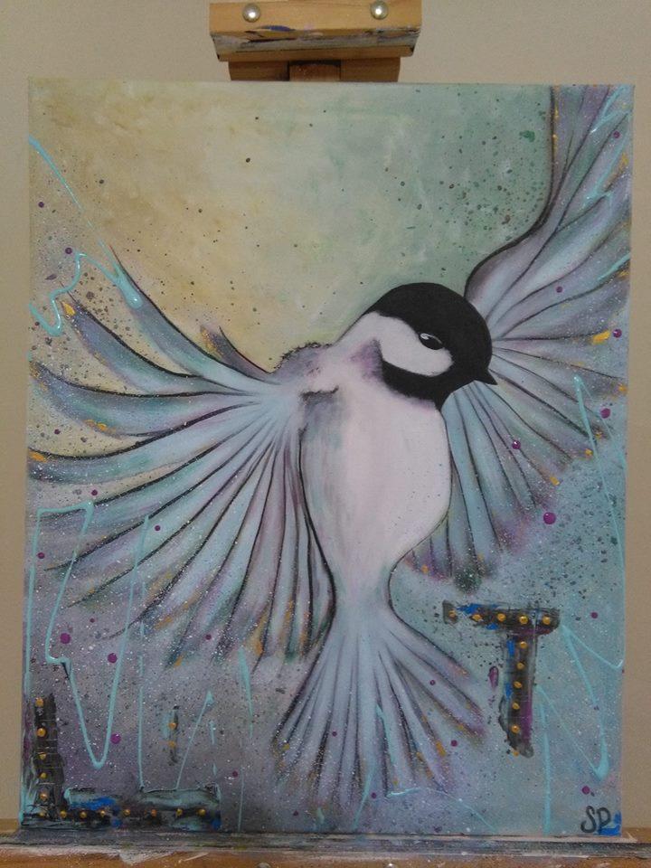 Une des œuvres de l'organisatrice de l'événement Reg'art sur le Fleuve, Sophie Pelletier, qui sera exposée lors de l'activité de peinture en plein air. (Photo: gracieuseté)