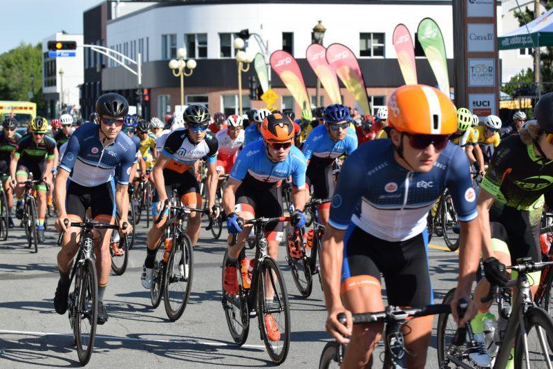 Félix Dalpé, Tristan Jussaume et Félix Robert, du club cycliste Dynamiks de Contrecœur, ont pris part à la 50e édition du Tour de l'Abitibi, du 16 au 22 juillet.  (Photo: Stéphane Jussaume)